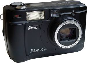 Jenoptik's JD 4100 z3 digital camera. Courtesy of Jenoptik Camera. Thanks to Steve's Digicams for providing us with this photo. Click for a bigger picture!