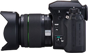 Pentax's K-5 digital SLR. Photo provided by Pentax Imaging Co. Click for a bigger picture!