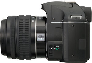 Pentax's K-x digital SLR. Photo provided by Pentax Imaging Co. Click for a bigger picture!