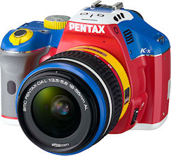 Front view of the Pentax K-x Korejanai Robot Model kit. Photo provided by Hoya Corp. Click for a bigger picture!