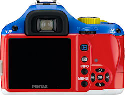 Rear view of the Pentax K-x Korejanai Robot Model kit. Photo provided by Hoya Corp. Click for a bigger picture!