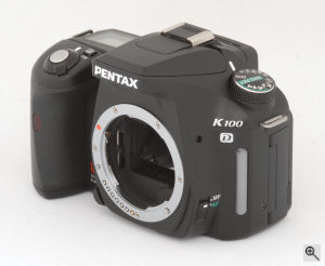 Pentax's K100D digital SLR. Copyright © 2006, The Imaging Resource. All rights reserved. Click for a bigger picture!