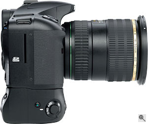 Pentax's K20D digital SLR. Courtesy of Pentax, with modifications by Michael R. Tomkins. Click for a bigger picture!