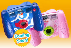 Fisher-Price's Kid-Tough Digital Camera. Courtesy of Fisher-Price, with modifications by Michael R. Tomkins.
