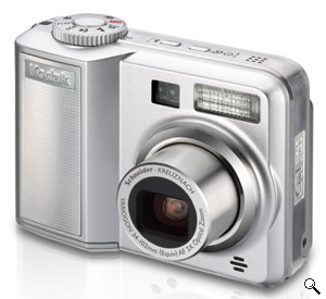 Kodak's EasyShare C663 digital camera. Courtesy of Kodak, with modifications by Michael R. Tomkins. Click for a bigger picture!