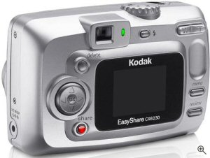 Kodak's EasyShare CX6230 digital camera. Courtesy of Kodak Germany, with modifications by Michael R. Tomkins. Click for a bigger picture!