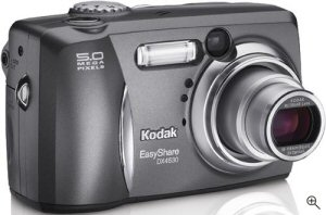 Kodak's EasyShare DX4530 digital camera. Courtesy of Kodak Germany, with modifications by Michael R. Tomkins. Click for a bigger picture!
