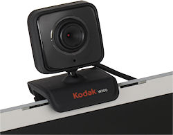 The Kodak W100 webcam comes in a two-pack - one to keep, and one to give. Photo provided by Sakar International Inc. Click for a bigger picture!