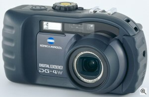 Konica Minolta's DG-4W digital camera. Courtesy of Konica Minolta, with modifications by Michael R. Tomkins. Click for a bigger picture!