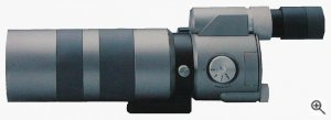 Kowa's TD-1 Super Telephoto Zoom digital camera / spotting scope. Courtesy of Kowa, with modifications by Michael R. Tomkins. Click for a bigger picture!