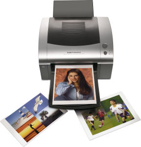 Kodak Professional's 1400 Digital Photo Printer. Courtesy of Eastman Kodak Co., with modifications by Michael R. Tomkins. Click for a bigger picture!