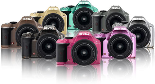 Eight new colors for the Pentax K-x in the European market. Photo provided by Pentax Europe GmbH. Click for a bigger picture!
