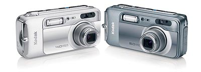Kodak's LS743 & 753 digital cameras. Courtesy of Eastman Kodak, with modifications by Imaging Resource.
