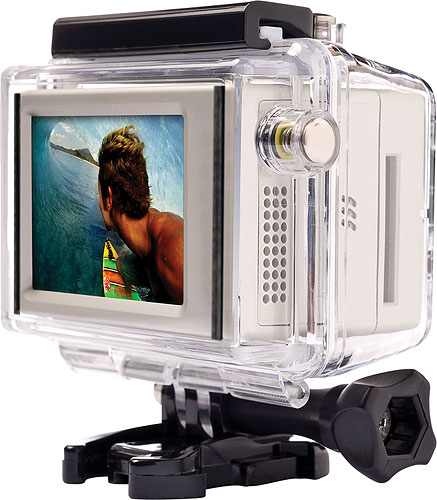 The combination of LCD BacPac and HD HERO can be installed in a waterproof housing. Photo provided by Woodman Labs Inc. Click for a bigger picture!
