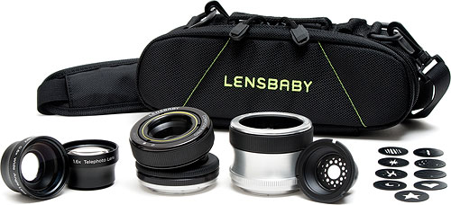 The Lensbaby Ultimate Portrait Kit. Photo provided by Lensbaby Inc. Click for a bigger picture!