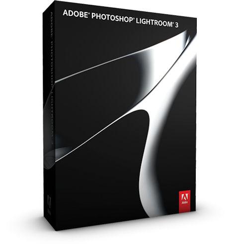 Adobe Photoshop Lightroom 3 product packaging. Rendering provided by Adobe Systems Inc. Click for a bigger picture!