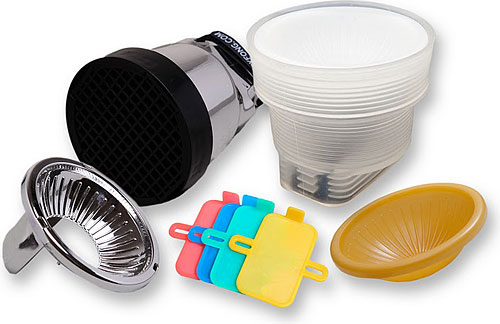 The Gary Fong Lightsphere Collapsible Pro Kit. Photo provided by Gary Fong Inc. Click for a bigger picture!