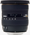 Sigma's 10-20mm F4-5.6 EX DC HSM lens for Four Thirds. Courtesy of Sigma, with modifications by Michael R. Tomkins.