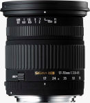 Sigma's 17-70mm F2.8-4.5 DC MACRO lens. Courtesy of Sigma, with modifications by Michael R. Tomkins.