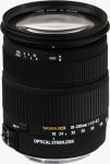 Sigma's 18 - 200mm F3.5 - 6.3 DC OS lens. Courtesy of  Sigma, with modifications by Michael R. Tomkins.
