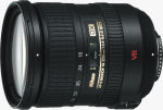Nikon's 18-200mm f/3.5-5.6G IF-ED AF-S DX VR Zoom-Nikkor lens. Courtesy of Nikon, with modifications by Michael R. Tomkins.