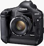 Canon's EOS-1D Mark IV digital SLR. Photo provided by Canon Inc. Click for our Canon 1D Mark IV preview!