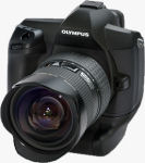 Olympus' E-System prototype. Courtesy of Olympus, with modifications by Michael R. Tomkins.