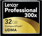 Lexar's 32GB 300x UDMA CompactFlash card. Rendering provided by Lexar Media Inc.