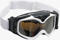 The Summit Series HD video camera snow goggle in use. Photo provided by Liquid Image Co. LLC.