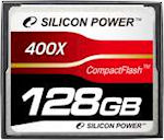 Silicon Power's 128GB 400X Compact Flash card. Photo provided by Silicon Power Computer & Communications Ltd.