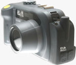 Ricoh's 500SE digital camera with SE-2 GPS module. Photo provided by Ricoh Americas Corp.