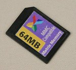 Matrix's 64MB write-once memory card in Secure Digital format.  Copyright © 2002, The Imaging Resource.  All rights reserved.