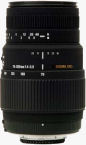 Sigma's 70-300mm F4-5.6 DG MACRO lens for Nikon. Courtesy of Sigma, with modifications by Michael R. Tomkins.