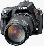 Sony's Alpha DSLR-A390 digital camera. Photo provided by Sony Electronics Inc.