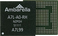 The Ambarella A7L system-on-chip. Photo provided by Ambarella Inc.