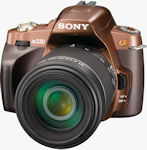 Sony's Alpha DSLR-A330 digital SLR. Photo provided by Sony Electronics Inc.