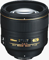 Nikon's AF-S NIKKOR 85mm f/1.4G ED lens. Photo provided by Nikon Inc.