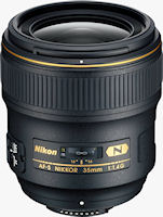 Nikon's AF-S NIKKOR 35mm f/1.4G lens. Photo provided by Nikon Inc.