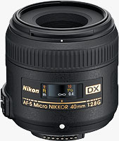 Nikon's AF-S DX Micro NIKKOR 40mm f/2.8G lens. Photo provided by Nikon Inc.