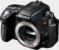 Sony's Alpha DSLR-A560 digital SLR. Photo provided by Sony Electronics Inc.