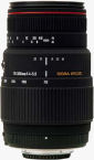 Sigma's APO 70-300mm F4-5.6 DG MACRO lens for Nikon. Courtesy of Sigma, with modifications by Michael R. Tomkins.