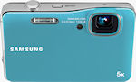 Samsung's AQ100 digital camera. Photo provided by Samsung Electronics America Inc.