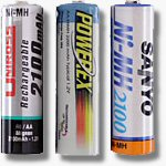 The top 3 in the July 25th Battery Shootout update.  Copyright © 2003, The Imaging Resource.  All rights reserved.