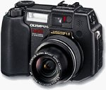 Olympus' C-5050Z digital camera. Courtesy of Olympus Europe, with modifications by Michael R. Tomkins.
