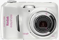 Kodak's EasyShare C1530 digital camera, Susan G. Komen edition. Image provided by Eastman Kodak Co.