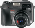 Olympus' Camedia C-7070 Wide Zoom digital camera. Courtesy of Olympus, with modifications by Michael R. Tomkins.
