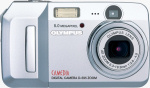 Olympus' Camedia D-595 Zoom digital camera. Courtesy of Olympus, with modifications by Michael R. Tomkins.