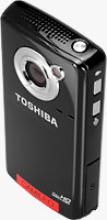 Toshiba's CAMILEO B10 camcorder. Photo provided by Toshiba Corp.