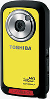 The Toshiba CAMILEO�BW10 camcorder. Photo provided by Toshiba America Information Systems, Inc.