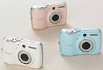 PowerShot E1 digital cameras. Courtesy of Canon, with modifications by Zig Weidelich.
